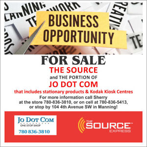 THE SOURCE - BUSINESS FOR SALE - MANNING,AB
