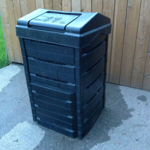 "40""H black square composter- 22"" x 22"" - great condition"