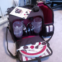 Fully equipped picnic cooler tote