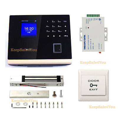 Biometric clocking in system+access control locks+Power Supply Unit+Push to Exit