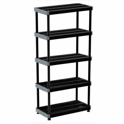 Rimax Black Heavy Duty 5-Shelf Storage Rack