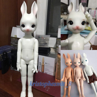 Doll size plushie plush bunny rabbit cute stuffed animal BJD Dollfie toy Pink