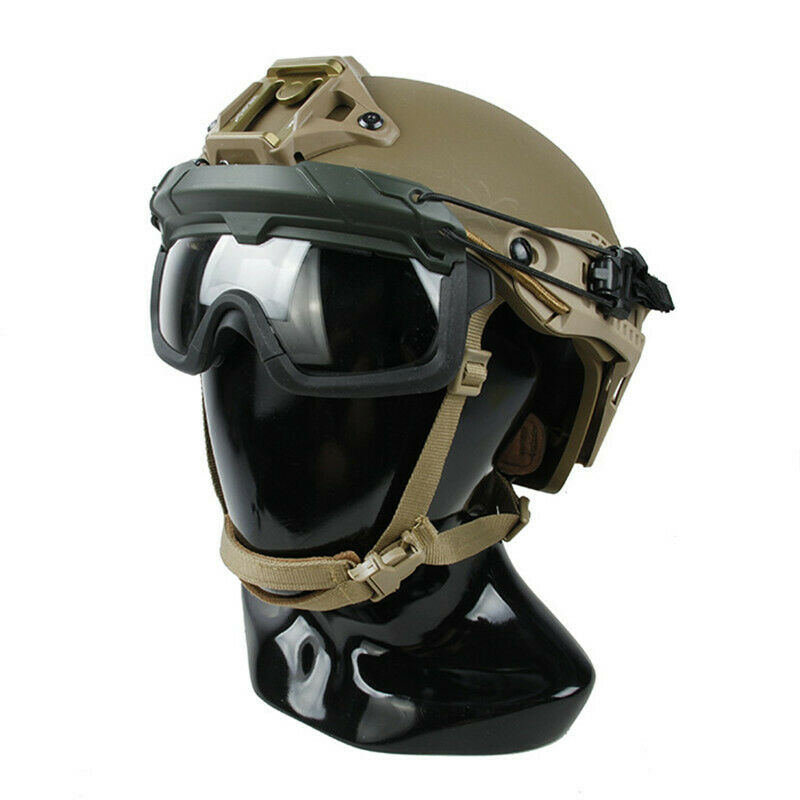 TMC3105 Tactical Helmet Glasses Dedicated Split Anti-Fog Goggles ANSI Z87.1 New