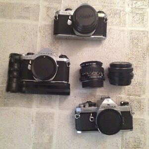 Pentax 35mm Camera bodies and lenses