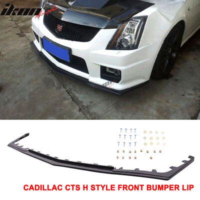 Fits 08-15 Cadillac CTS V Sedan H Style Front Bumper Valance Spoiler Lip PU