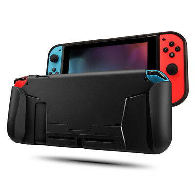 Black Protective TPU Case For Nintendo Switch Grip Cover Shockproof Absorpti_ YR