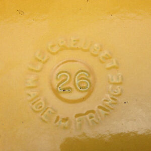 LE CREUSET FRANCE #26 YELLOW CAST IRON GRILL PAN SKILLET London Ontario image 2
