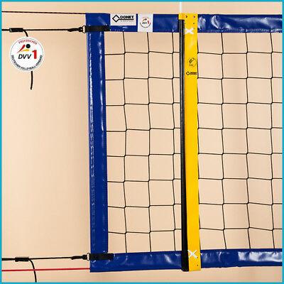 Beachvolleyball Beach Volleyball Turniernetz Netz DVV-1, 8,5 x 1,0 m, Blau