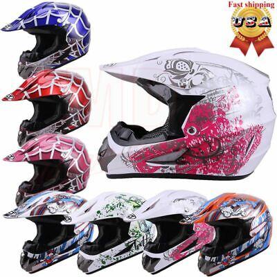 DOT Youth/Kids Child Motorcycle Motocross Dirt Bike Helmet ATV Racing Helmets -