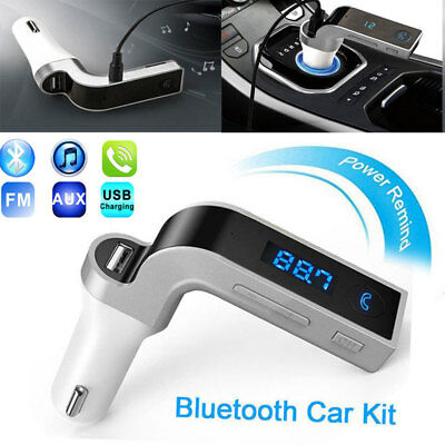 Bluetooth Wireless Auto Handsfree Car AUX Audio Receiver FM