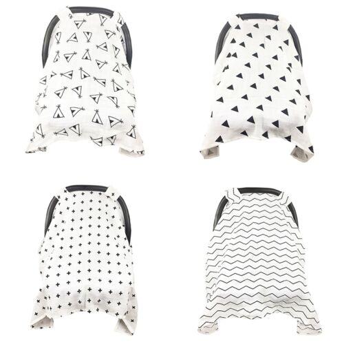 Baby Stroller Pram Car Seat Cover Blanket Breathable Muslin