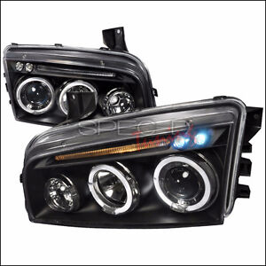 05-07 Dodge Magnum Projector Headlight Black LH& RH
