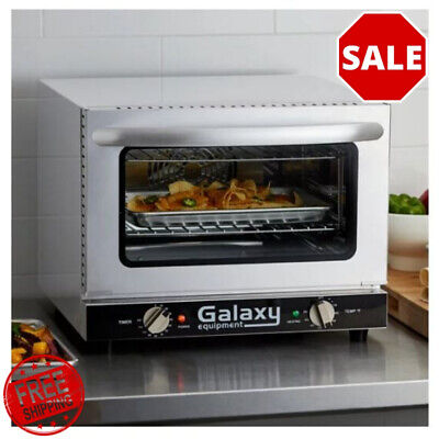 New Commercial Galaxy Coe3q Quarter Size Countertop Convection Oven - 120v