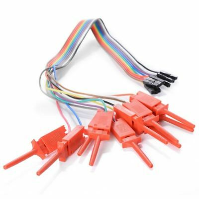10 Pin Dupont Female Clip Hook Cable Test For Logic Analyzer I7p7