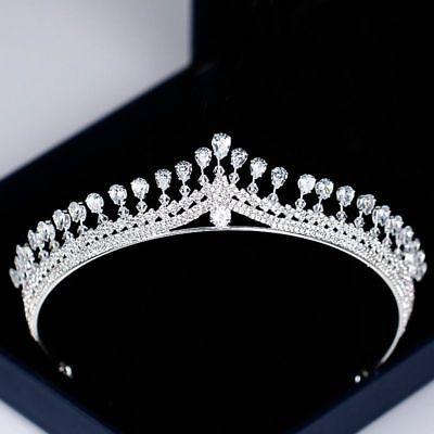 Cristal Corona Tiara Estrás Cabello de Novia Concursos Belleza Boda Diadema