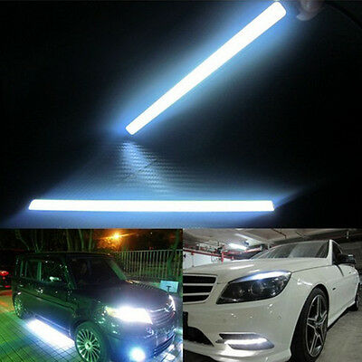2x Super Bright COB Car LED Lights 12V For DRL Fog Driving Lamp Waterproof