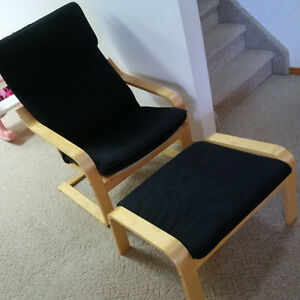 Poang Chair and Footstool