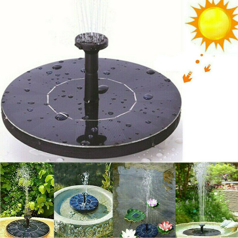 Solar Powered Fountain Pump Floating Bath Water Panel Garden