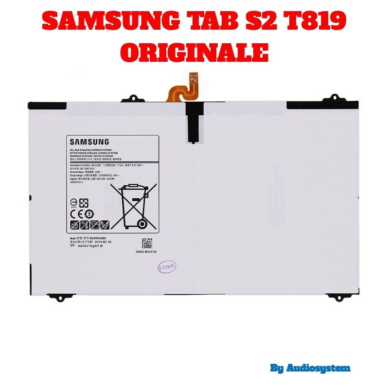BATTERIA ORIGINALE SAMSUNG per GALAXY TAB S2 4G 9.7 SM-T819 RICAMBI 5870Mah
