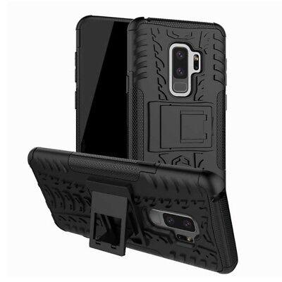 Hybrid Case 2teilig Outdoor Schwarz Tasche Hülle für Samsung Galaxy S9 Plus G965