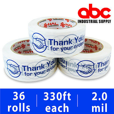 36 Roll Thank You For Your Order Box Shipping Tape 2 110 Yds 330ft