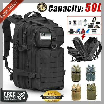 BACKPACK Outdoor Hiking Waterproof  Military 50L Tactical Softback BEST