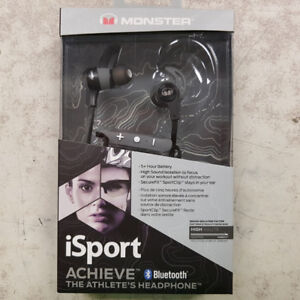 Monster iSport Bluetooth Earbuds - NEW