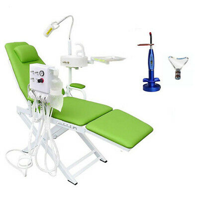Dental Portable Mobile Chairturbine Unit 4h5w Wireless Led Curing Light Blue