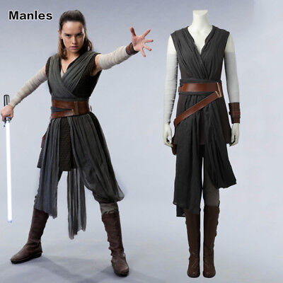 2017 Star Wars The Last Jedi Rey Cosplay Costume New Year Woman Stage Outfit New - Womens Christmas Outfits 2017