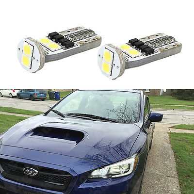 2x 2015 2016 2017 WRX Base Premium White LED Boomerang Parking C-Light