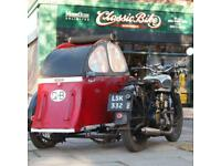 1939 BSA M20 500 Classic Vintage Sidecar Outfit In Beautiful Oily Rag Condition