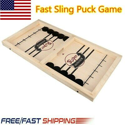 US Fast Sling Puck Game Paced SlingPuck Winner Board Family Affection Games Toys