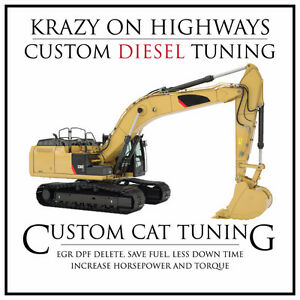 CAT Excavator EGR & DPF Removal & MORE!