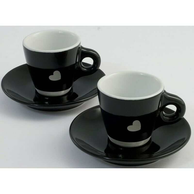 Bialetti Cuor di Moka Set 6 tazzine da caffè con piattini