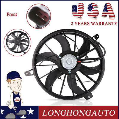 Front Radiator Cooling Fan ASSY Work for 99-2003 Jeep Grand Cherokee 52079528AB Jeep Grand Cherokee Cooling System