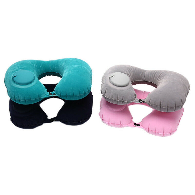 Inflatable Super Light Portable Neck Pillow U-Shape Automatic Inflatable Tra  S