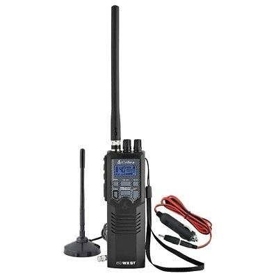 COBRA HHRT50 HANDHELD CB RADIO WITH NOAA WEATHER & INCLUDED MAGNET MOUNT ANTENNA
