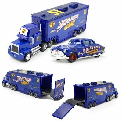 Pixar Cars NO.51 Doc Hudson Hornet Mack Truck & Racer Diecast Toy Car 1:55 Loose