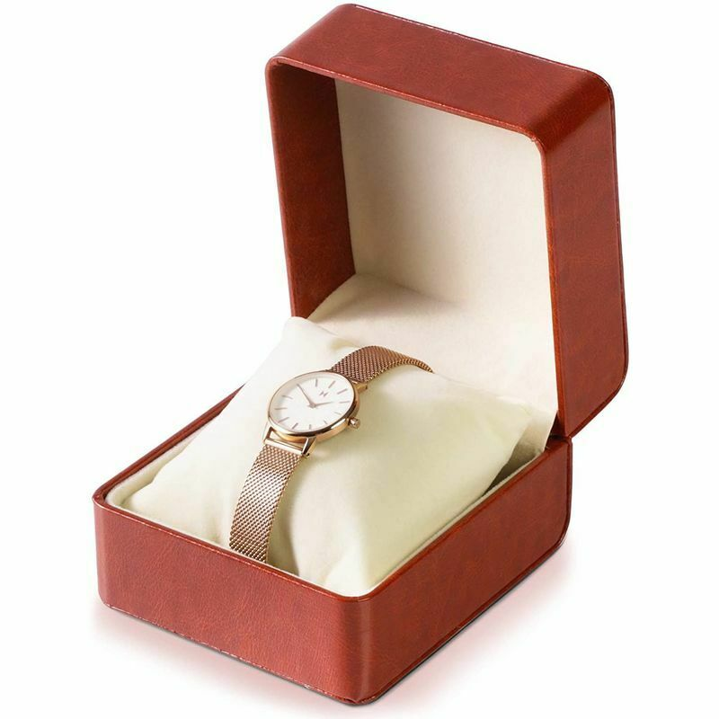 Single Slot Leather Watch Box Storage Holder Organizer Jewelry Display Case
