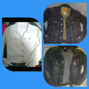 3 different denim jackets (Tommy, Levi & Parasuco)