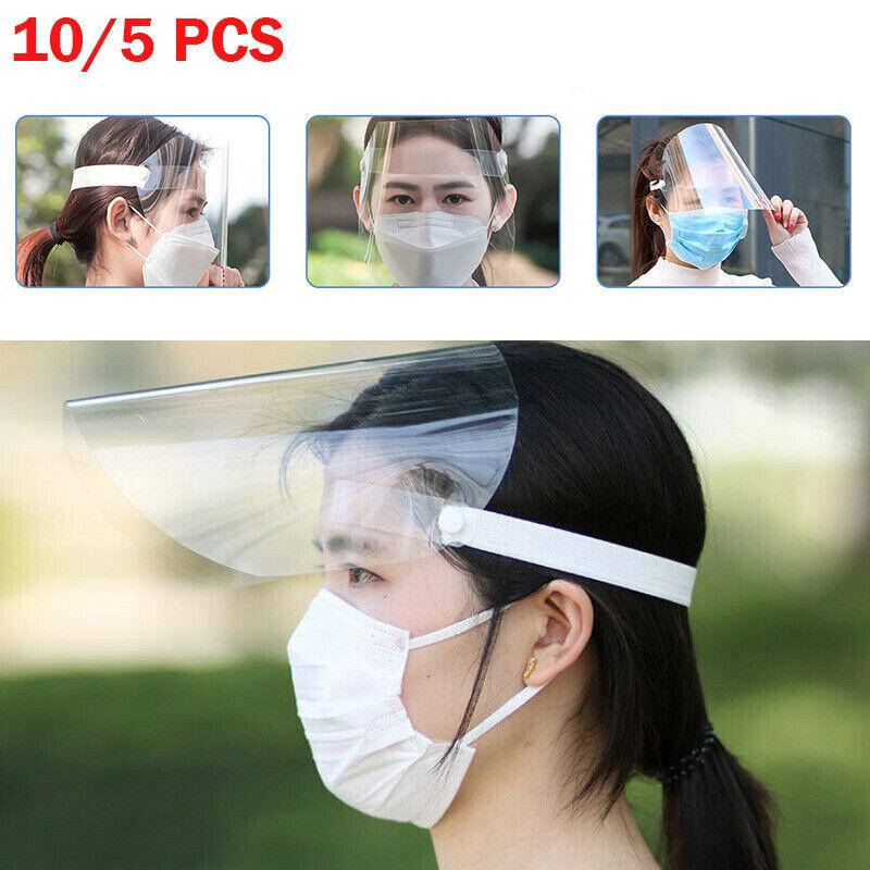5/10X Augenschutz Gesichtsschutz Gesichtsmaske Gesichtsschutzschild Schutzmaske