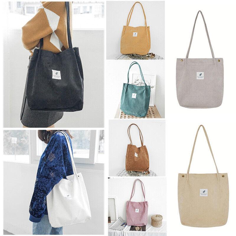 For Women Corduroy Shoulder Shopping Bag Tote Crossbody Bags