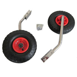 Launching wheels for small boat