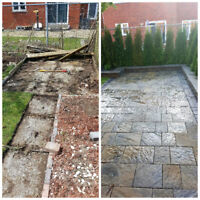 Interlock, Landscaping, Flagstone, Steps and more