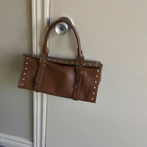 Brown leather Claudia Firenze purse