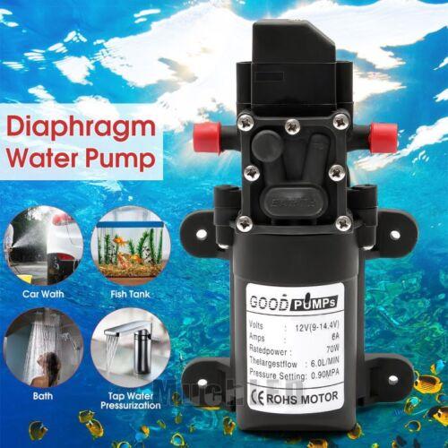 12V Water Pump 130PSI Self Priming Pump Diaphragm High Press