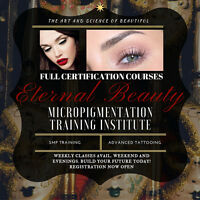 Permanent make up certification course / Lash Extension course