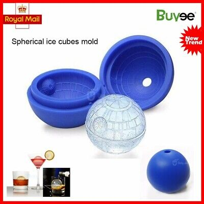 3D Star Wars Ice Cube Round Ball Mould Tray Desert Sphere Death Star Party Bar
