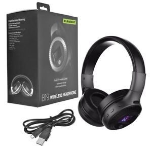 Wireless Bluetooth Headphone with FM/Aux/SD Card slot Rechargabl