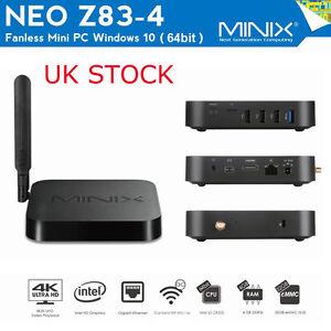 MINIX NEO Z83-4 Fanless Mini PC 64bit Windows 10 Intel x5-Z8300 WiFi UK Stock